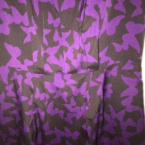 LOFT Dresses - Loft purple bufferfly print dress